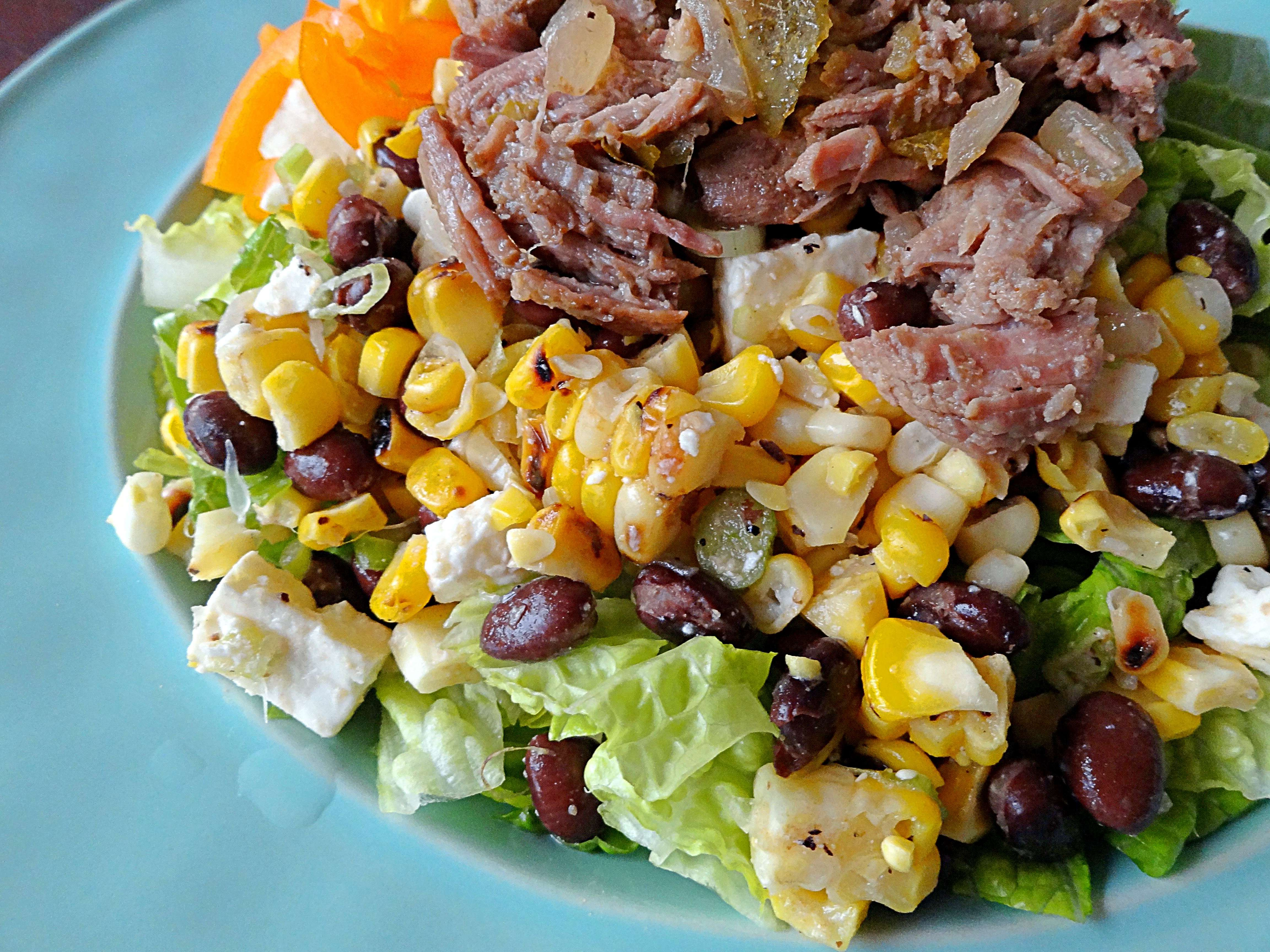 barbacoa taco salad the cheerful kitchen