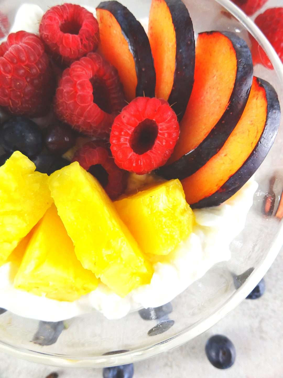Cottage Cheese & Fruit Breakfast Bowl by The Cheerful Kitchen